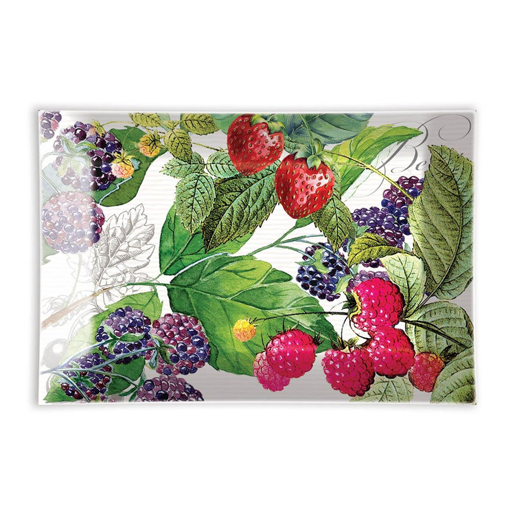 Berry Patch Glass Soap Dish