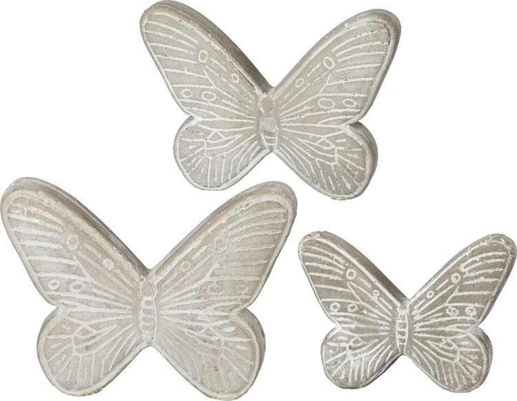 Cement Butterfly Set