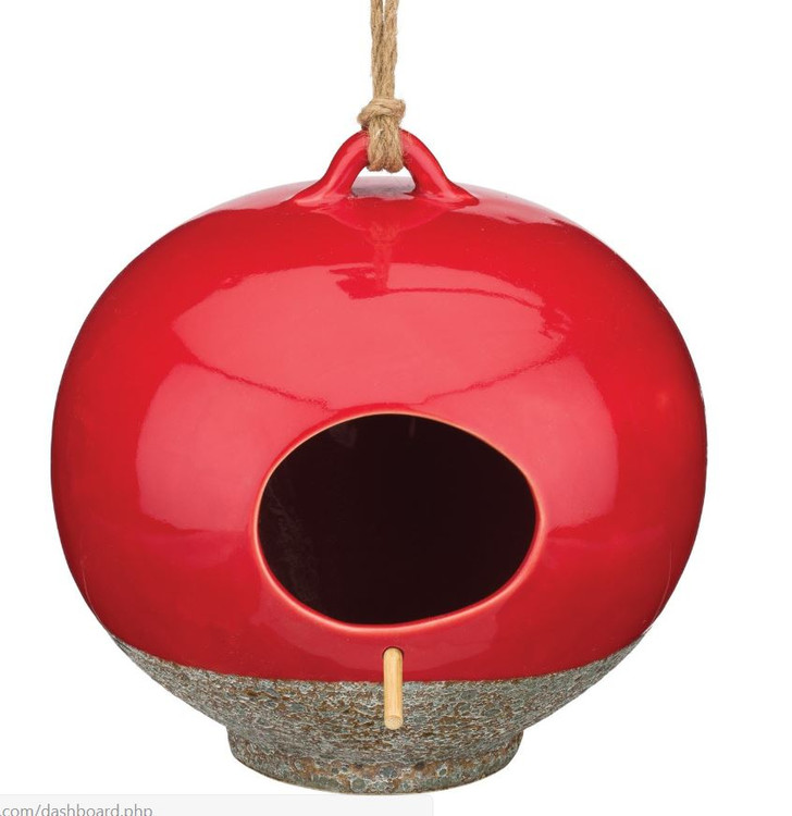 Ceramic Bird House - Cherry