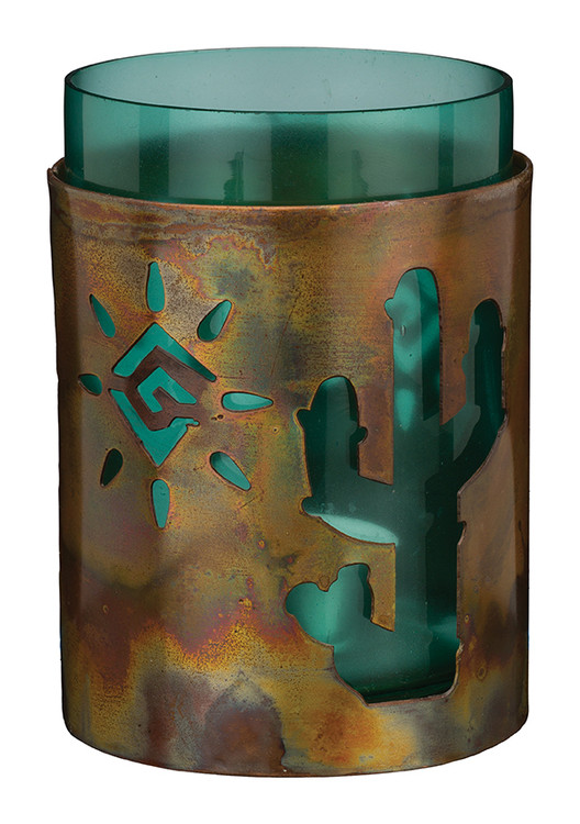 Copper Candleholder - Cactus