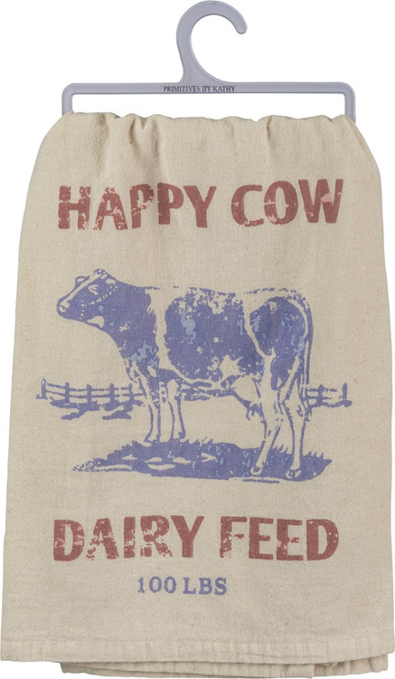 Dish Towel - Happy Cow Dairy Feed 100 Lbs