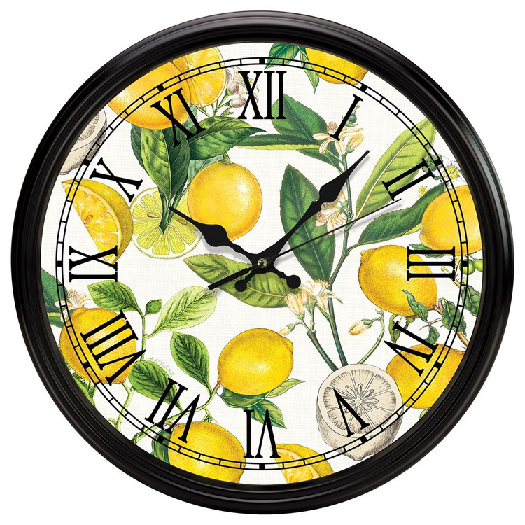 Lemon Basil Kitchen Clock