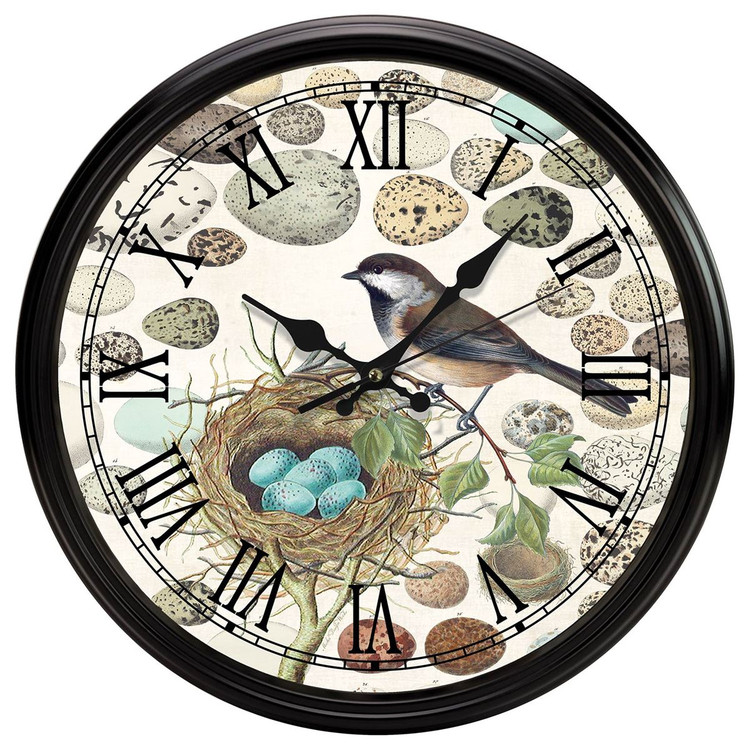 Nest & Eggs Kitchen Clock