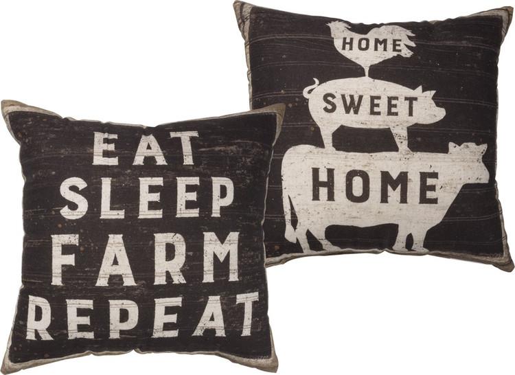 Pillow - Eat Sleep Farm Repeat