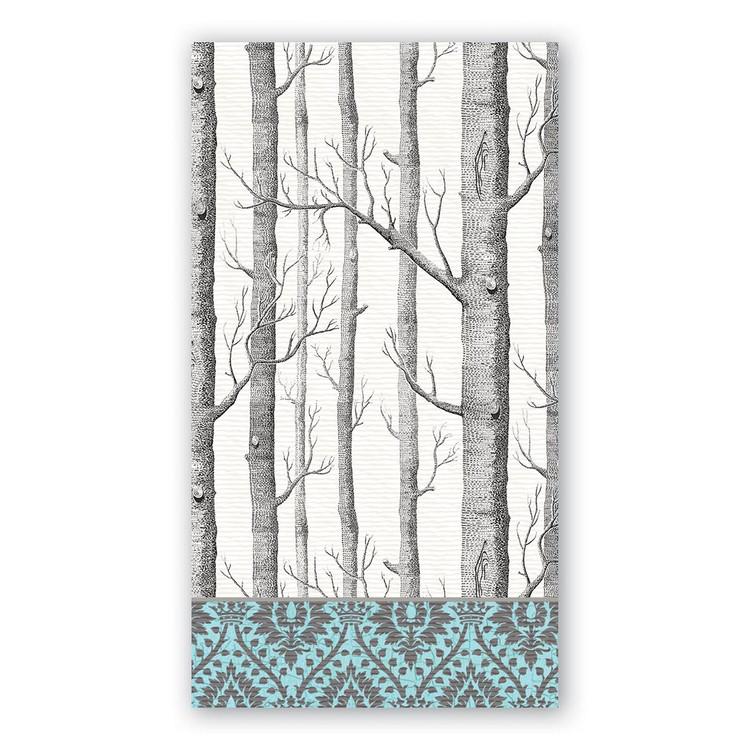 Silver Trees Hostess Napkins