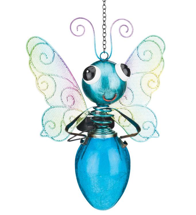 Solar Butterfly Lantern - Blue