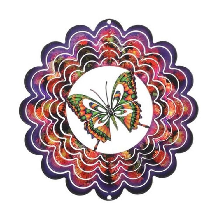 Kaleidoscope Wind Spinner Butterfly