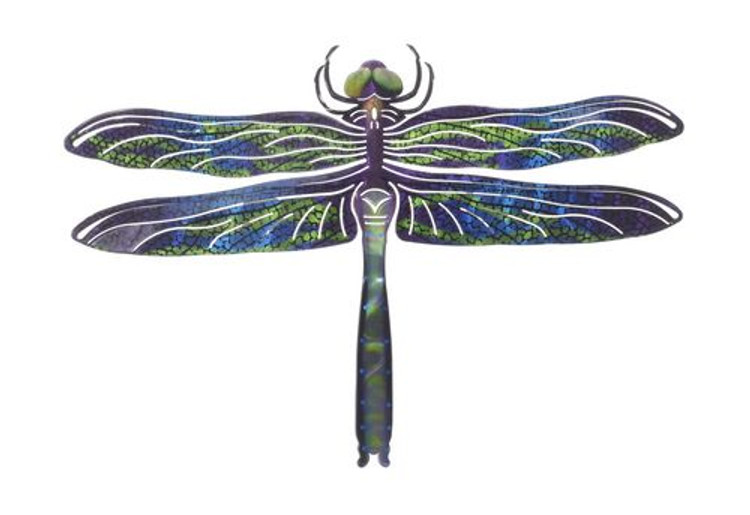 Metal Wall Art - Dragonfly Multi Refraxions