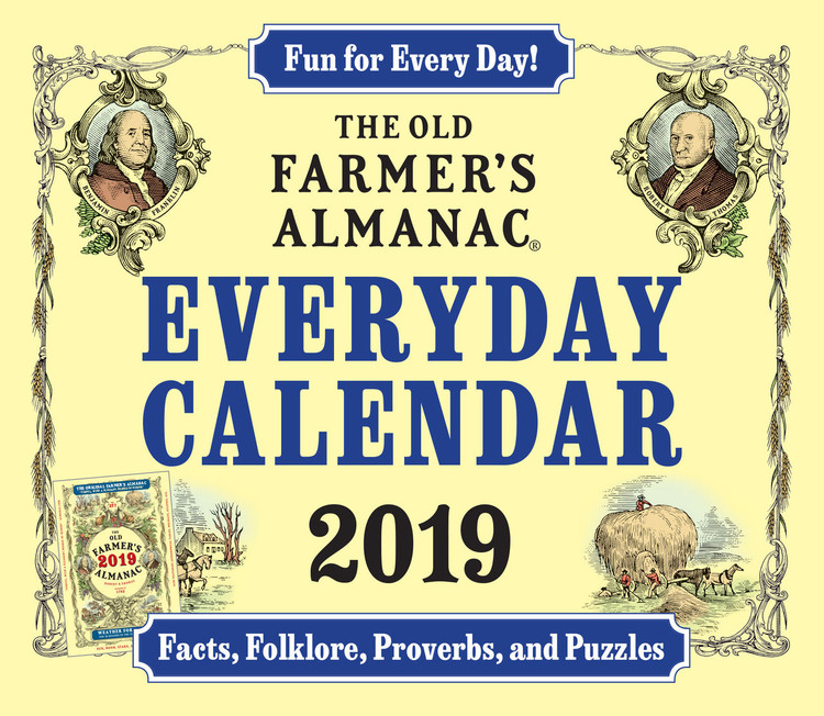 The 2019 Old Farmer's Almanac Everyday Calendar