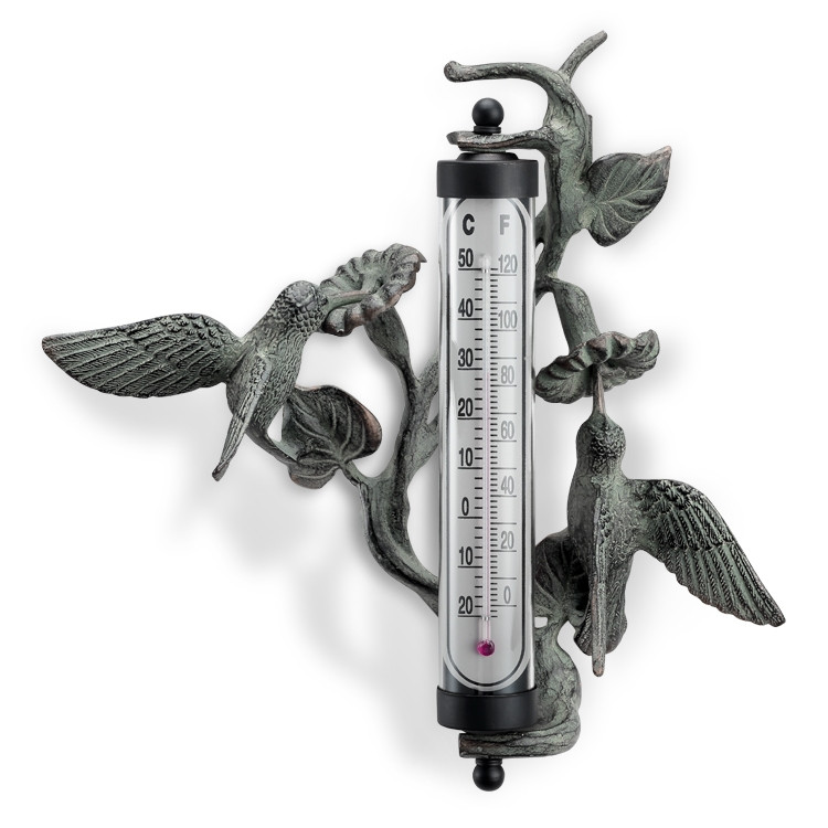 Hummingbird Wall Mounted Thermometer