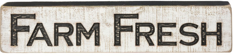 Farm Fresh Carved Sign