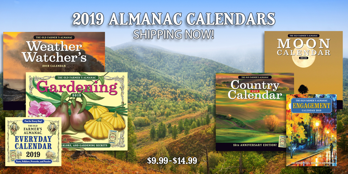 2019 Calendars by The Almanac