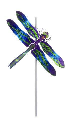Color Infused Metal Garden Stake   Dragonfly