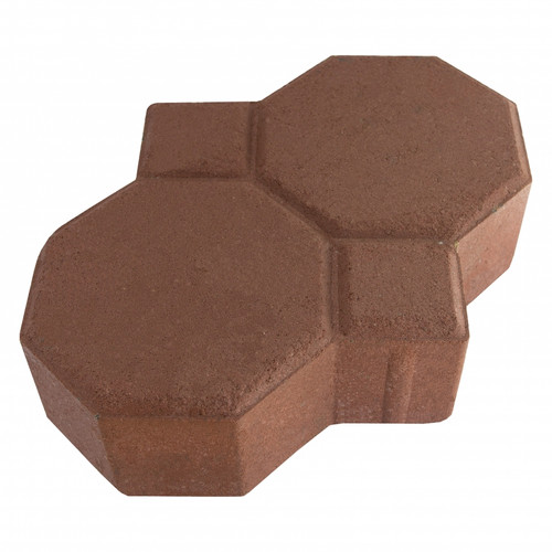 "MGM 2 Layers ""Penguin"" Type Interlocking Paver Block P2R - Dark Red (PV00010-00006)"