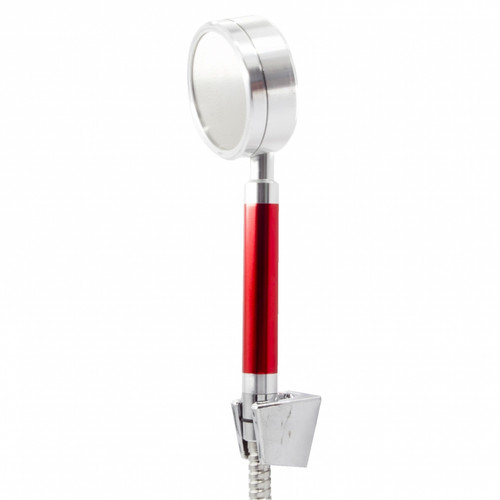 Figo Aluminium Shower Head c/w 1.5m hose and holder (red) FG-A-8077 (SHP102)