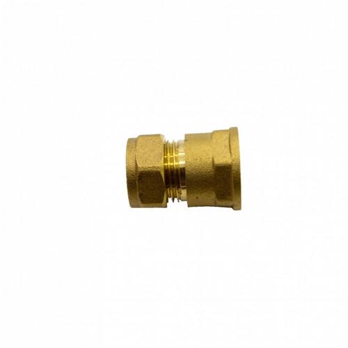 """Figo Brass Coupling (15 x 1/2""""F) (T&M00005-00006)"""