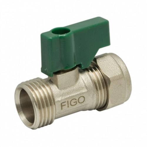"""Figo Brass Mini Ball Valve 1/2"""" M/M (HW00211-00004)"""