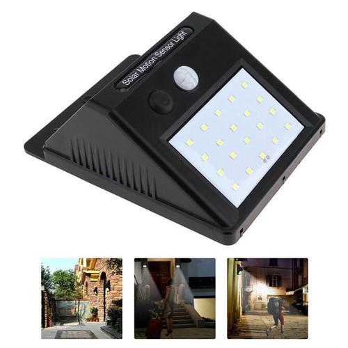 Dawson 20 LED Solar Powered Motion Sensor Wall Light 4W