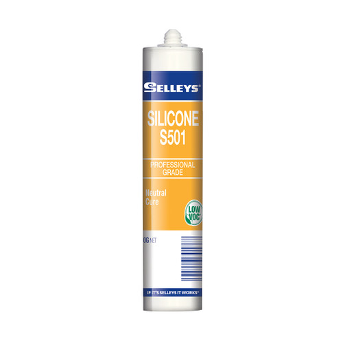 Selleys Silicone S501 White 410G