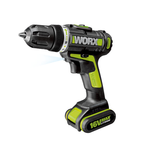 Worx 16V Max Drill / Driver With Led Light (Wu171)