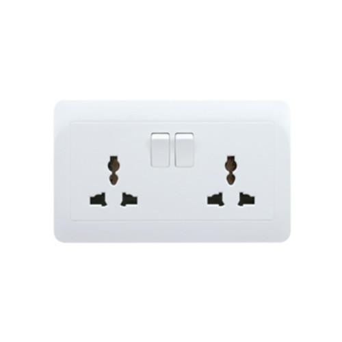 My Home Diy White 2 Gang Universal Switch Socket