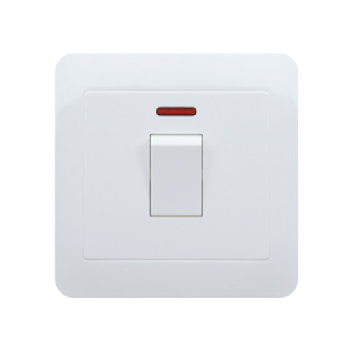 My Home Diy White 15A 1 Gang Round-Pin Socket