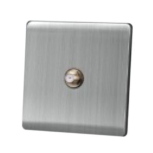 My Home Diy Silver 1 Gang Satelite Tv Socket