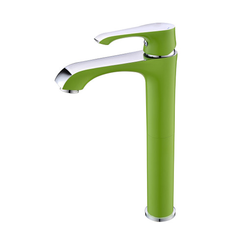 Ph2016-2Al Chrome & Green Basin Mixer