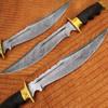 Custom Made Damascus Outstanding American Bowie Knife Micarta Wo
