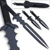 Undead Slayer Set Ninja Sword, 2 Thrower Knives, Shoulder Sheath