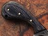 White Deer  Damascus Steel Skinner Knife w/Finger Hole (Micarta Handle