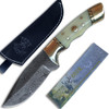Custom Damascus Steel (Bone Handle, Brass Guard & Mosaic Pin)