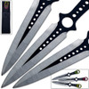 Grinning Demon Throwing Knife Set of 3 Death Note Ninja Skulls