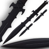 Ninja Sword & Throwing Knives Set Night Ops Covert w Sheath
