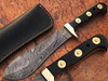 WHITE DEER MAGNUM Damascus Steel Handmade Hunting Knife | Authentic Buffalo Horn Handle
