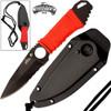 Master USA Tactical Fixed Blade Boot/Neck Knife EDC Half-Serrate