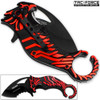 TAC FORCE Falcon Talon Serrated Karambit Collectors Series Knife | Red & Black
