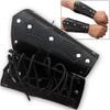 Biker Leather Cuffs (pair) Iron Cross Bracers Arm Armor Harley Black Studded
