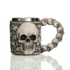 Underworld Drinking Tankard Mug - Death Skull Coffee Cup Skeletal