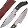WHITE DEER Full Tang J2 Steel Tactical Knife Buffalo Horn Grip Drop Point