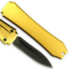 Legends Micro OTF Stiletto Blade Knife GOLD Out The Front