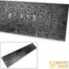 White Deer LADDER PATTERN Billet Damascus Steel Forge Welded 10in x 2in x 5mm Raw