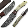 White Deer Executive Strait-Back Damascus Steel Knife