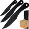 Case of 6pcs Jack Ripper Black Trifecta Knives Set 3Pcs Throwers