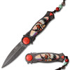 American Indian Styled Spring Assisted Knife 3CR13 Steel