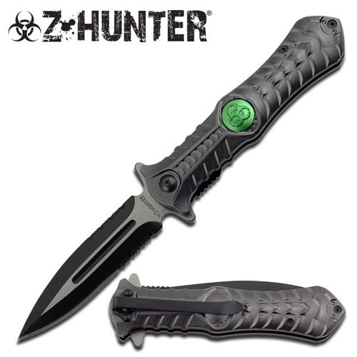Zombie Hunting Combat Stiletto Style Spring Assisted Knife