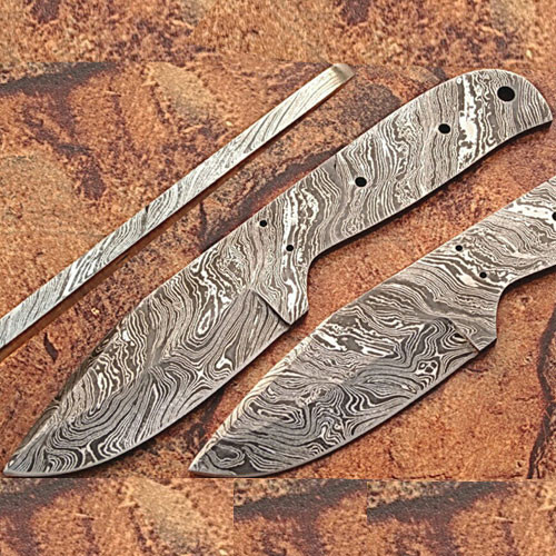 Handmade Damascus Steel Knife (Blank Blade)