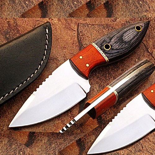 Custom Made J2 German Steel Full Tang Skinner Knife