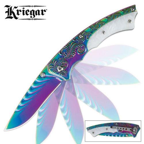 Kriegar Rainbow Titanium Assisted Open Pocket Knife