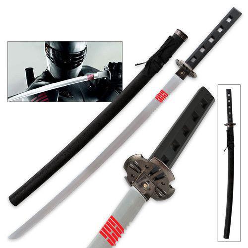 GI Joe Snake Eyes Full Tang Sword Replica